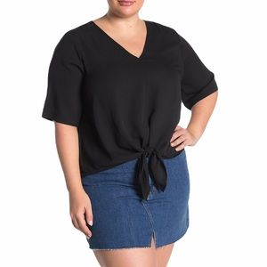 MADEWELL | Novel Tie-Front Top 2X, 3X NWT